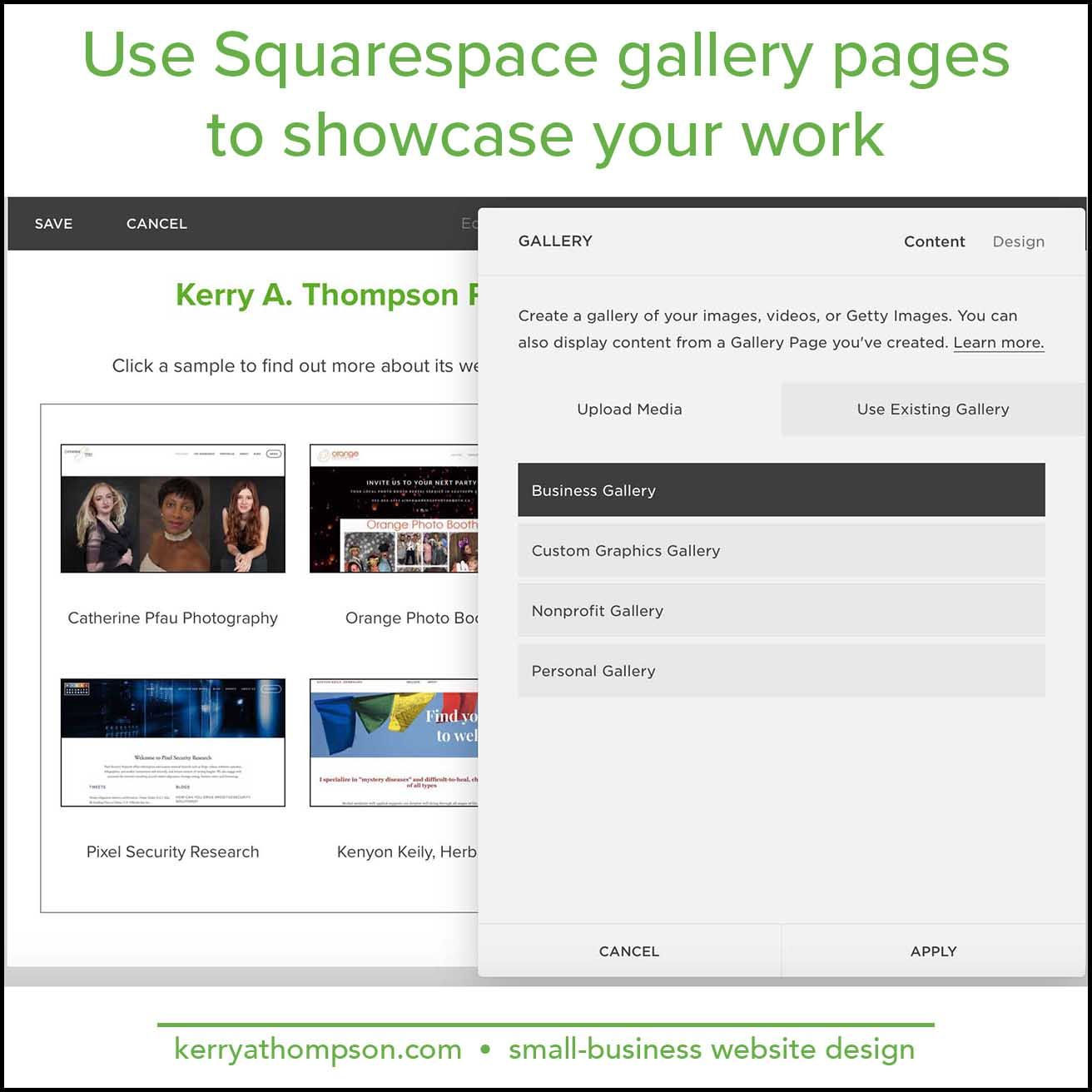 Squarespace gallery pages come to the rescue of a crowded