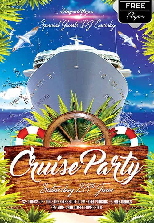 Cruise Party Free Flyer Template  HttpFreepsdflyerComCruise