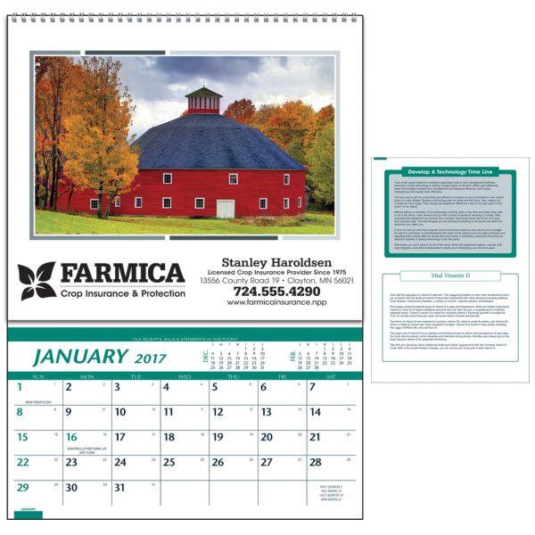 Farm Pocket Calendar Organization Crop Insurance Agriculture
