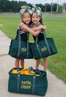 Show your school spirit with a Large Utility Tote and a Zip-Top Organizing Utility Tote in the Spirit colors or your choice!