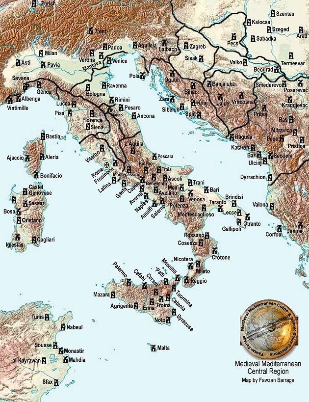 Medieval Map Of Italy.Map Of Medieval Italy Maps Historical Maps Antique Maps Italy Map