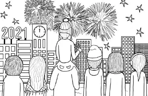 Happy New Year 2021 Coloring Pages in 2020 | New year ...