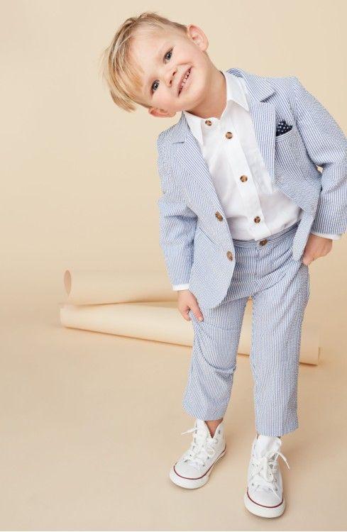 ring bearer suit - Little Brother by Pippa & Julie Seersucker Suit ...