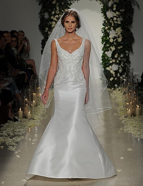 die kleine Meerjungfrau Brautkleid mit Satin-Rock von Anne Barge ...