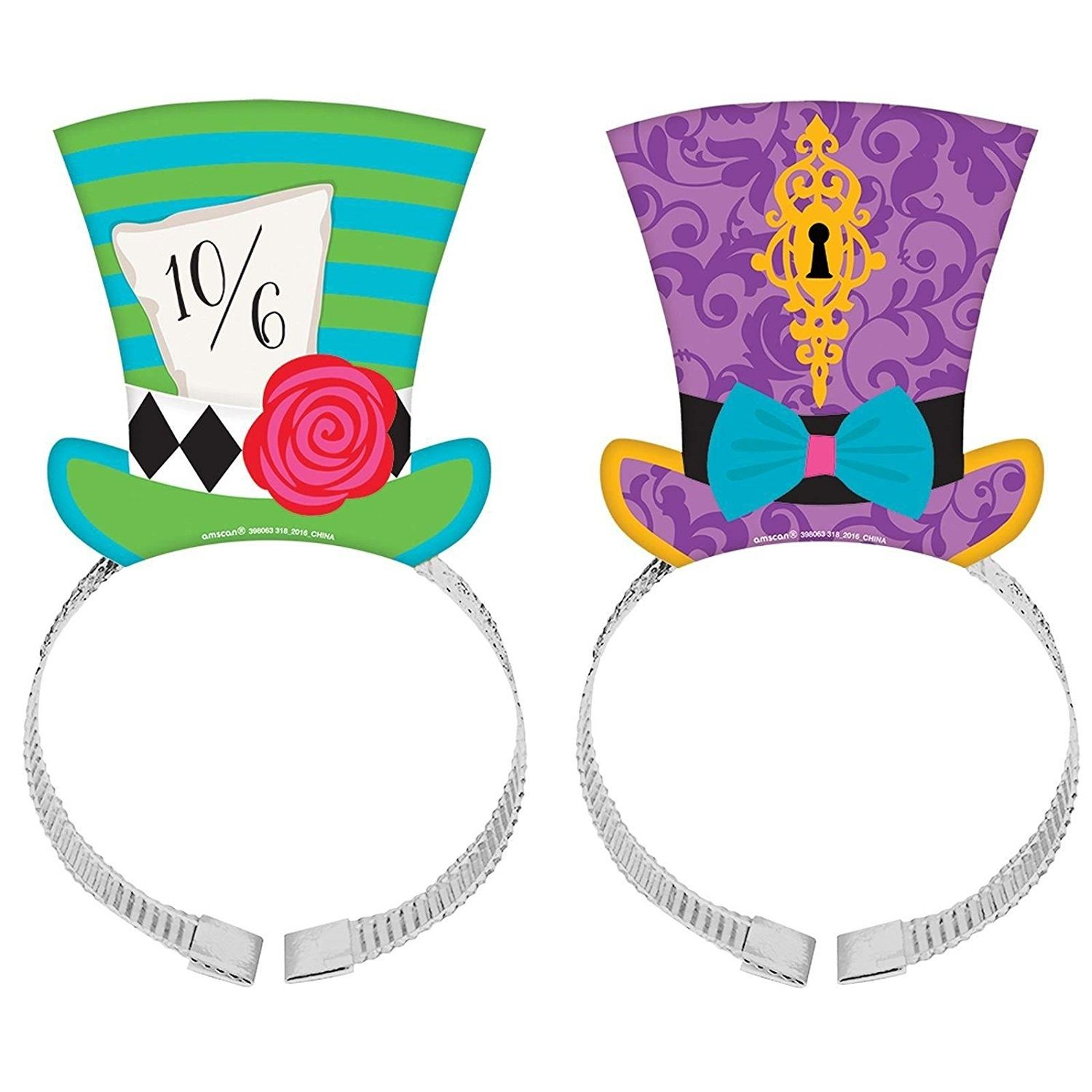 8 x mad hatter tea party hat headband set wonderland for Mad hatter party props