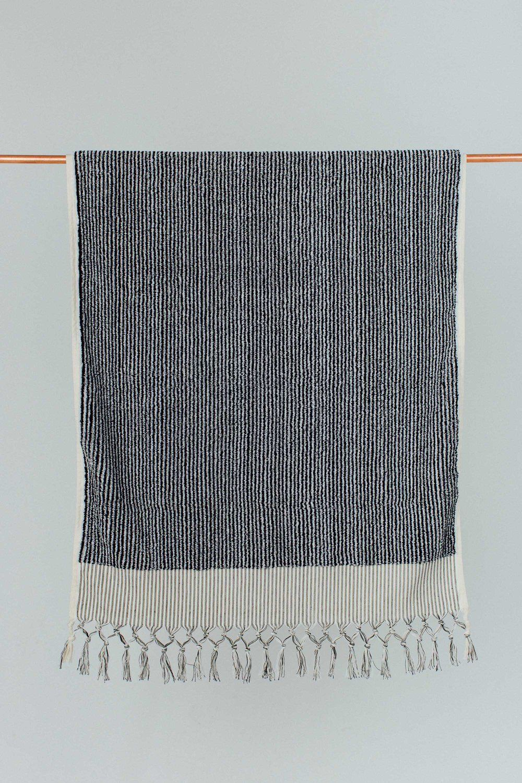 Black White Stripe Bath Towel Black White Stripes Black