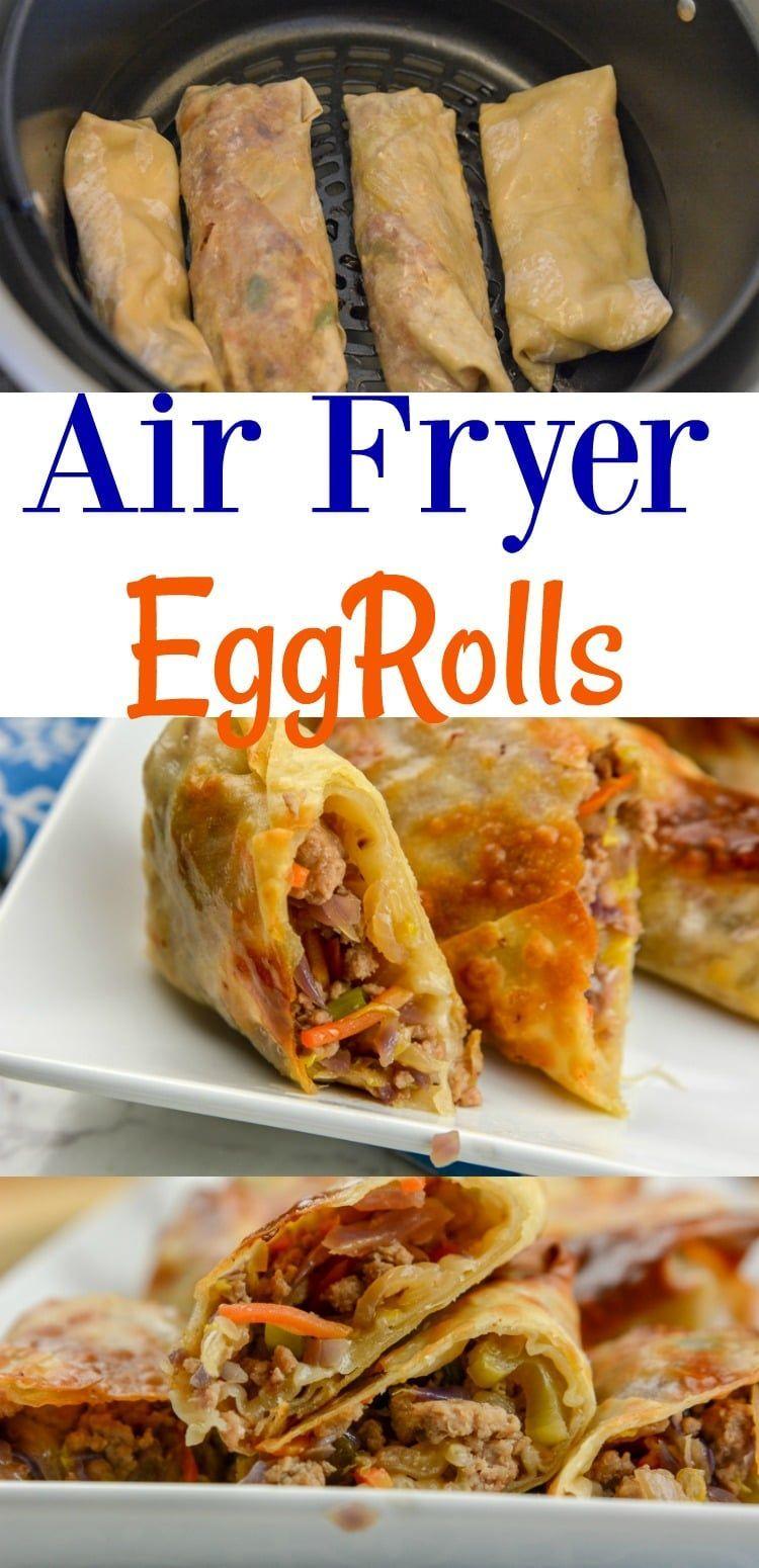 Airfryer or ninja foodi egg rolls eggrolls in 2020 air
