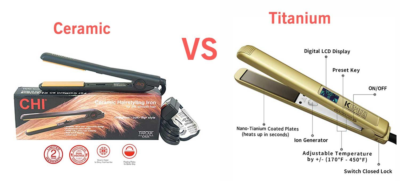 Titanium Vs Ceramic Flat Iron Let S Find Out Which One Is Better In 2020 Ceramic Flat Iron Flat Iron Titanium Flat Iron