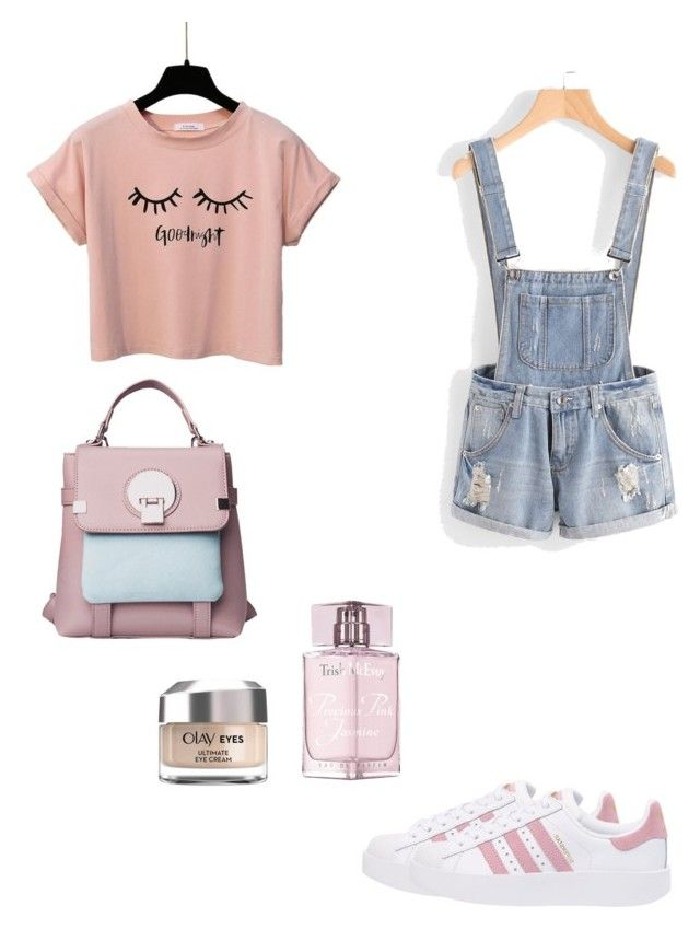"""""""Untitled #252"""" by xolafkax on Polyvore featuring adidas Originals, Trish McEvoy and Olay"""