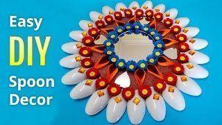 Diwali Deko-Ideen: Wie man Wanddekor aus Plastiklöffeln macht | DIY home Dekorationen #diwali...