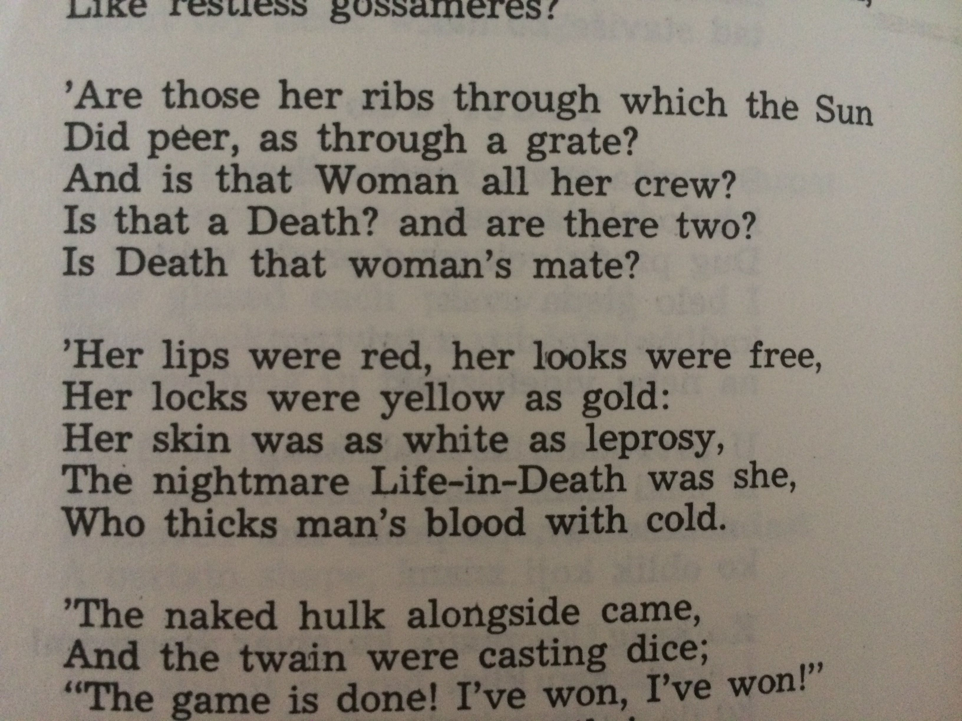 S T Coleridge The Rime Of The Ancient Mariner