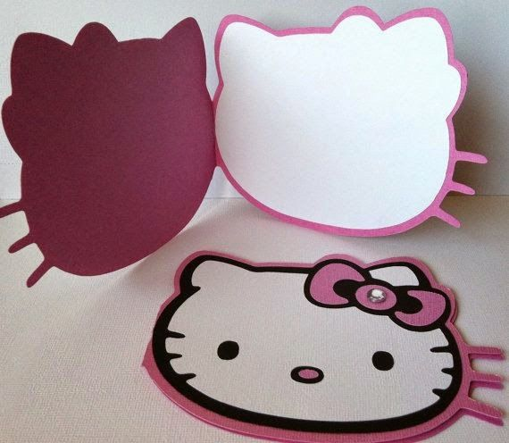 Invitacion Hello Kitty Libro Elaborada En Cartulinas