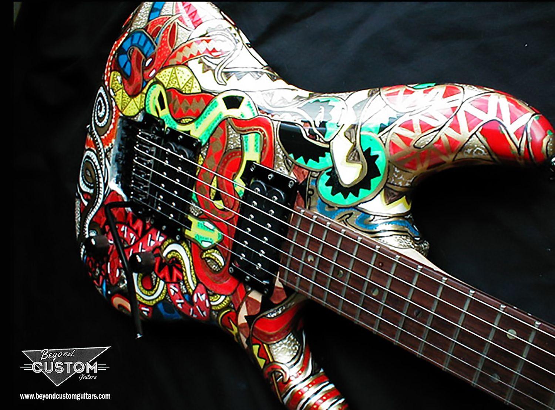 Ibanez JS 1000 Joe Satriani Model With Custom Snakes Paint And Finishing Beyondcustomguitars