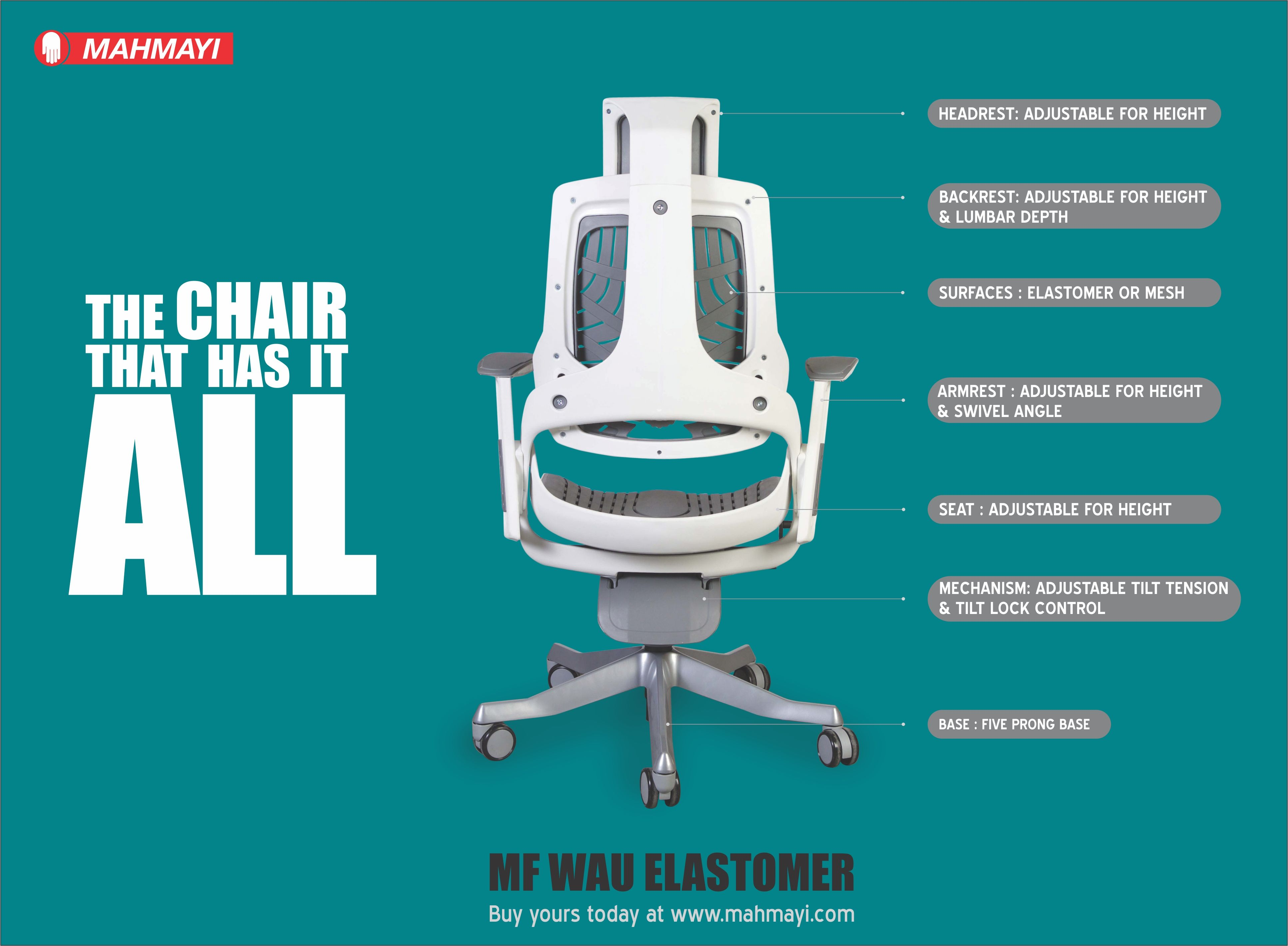 The Perfect Partner For Your Back In Comfort Style And Performance Wau Elastomer Chair Eng Modern Furniture Stores Furniture Stores Online Modular Furniture