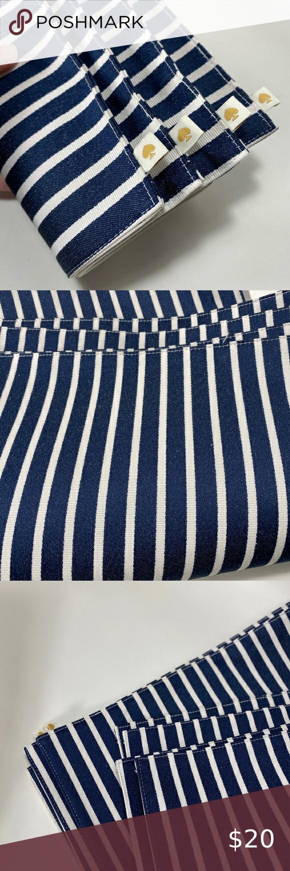4x Kate Spade Blue White Striped Placemats Blue And White White Stripe Kate Spade