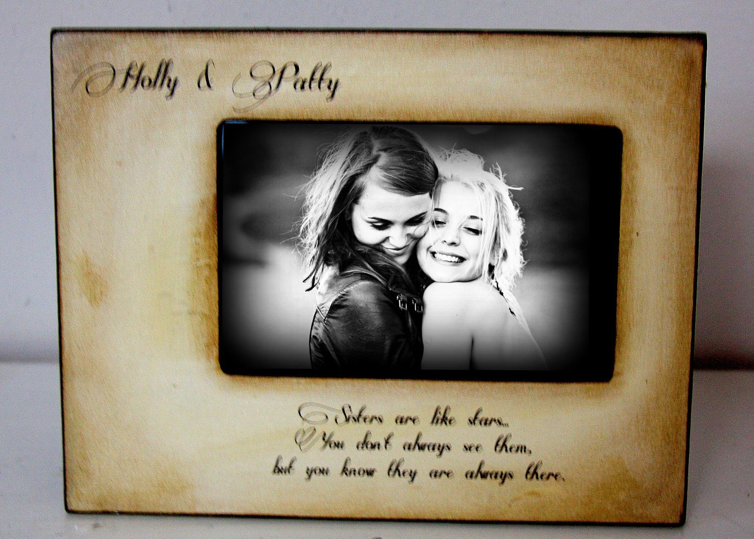 Picture Frame Gift, Best Friend, Mom Dad Sister Brother 4x6 Photo ...