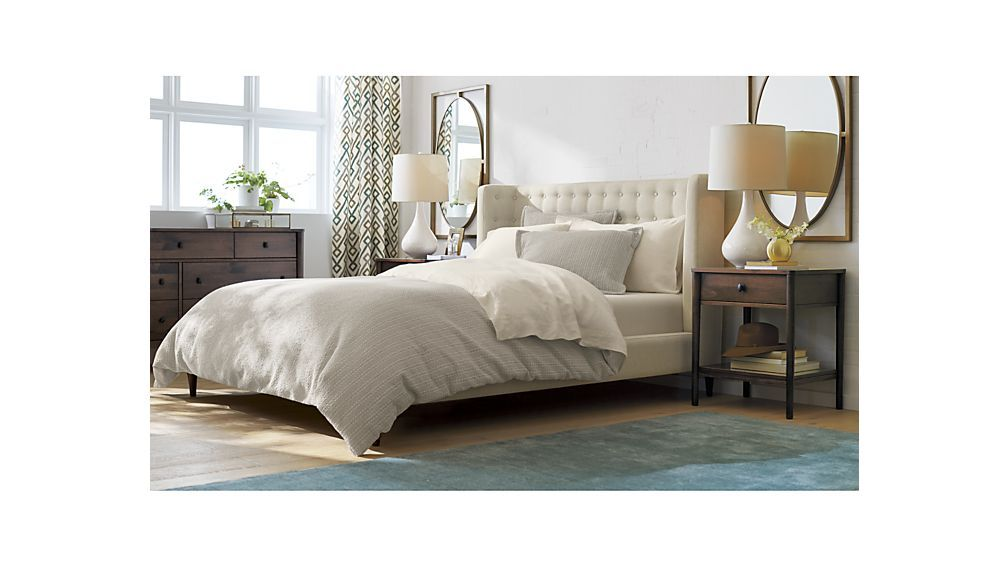 Gia Upholstered Bed Crate And Barrel Upholstered Beds King