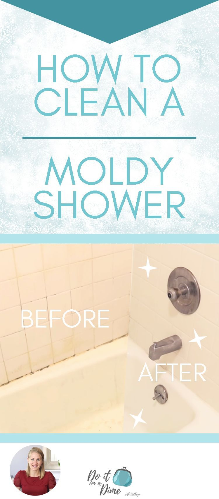 How to Clean a Moldy Shower showertiles Cleaning shower