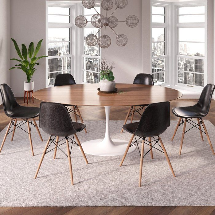Inspired By A True Modern Classic This Oval Dining Table Is