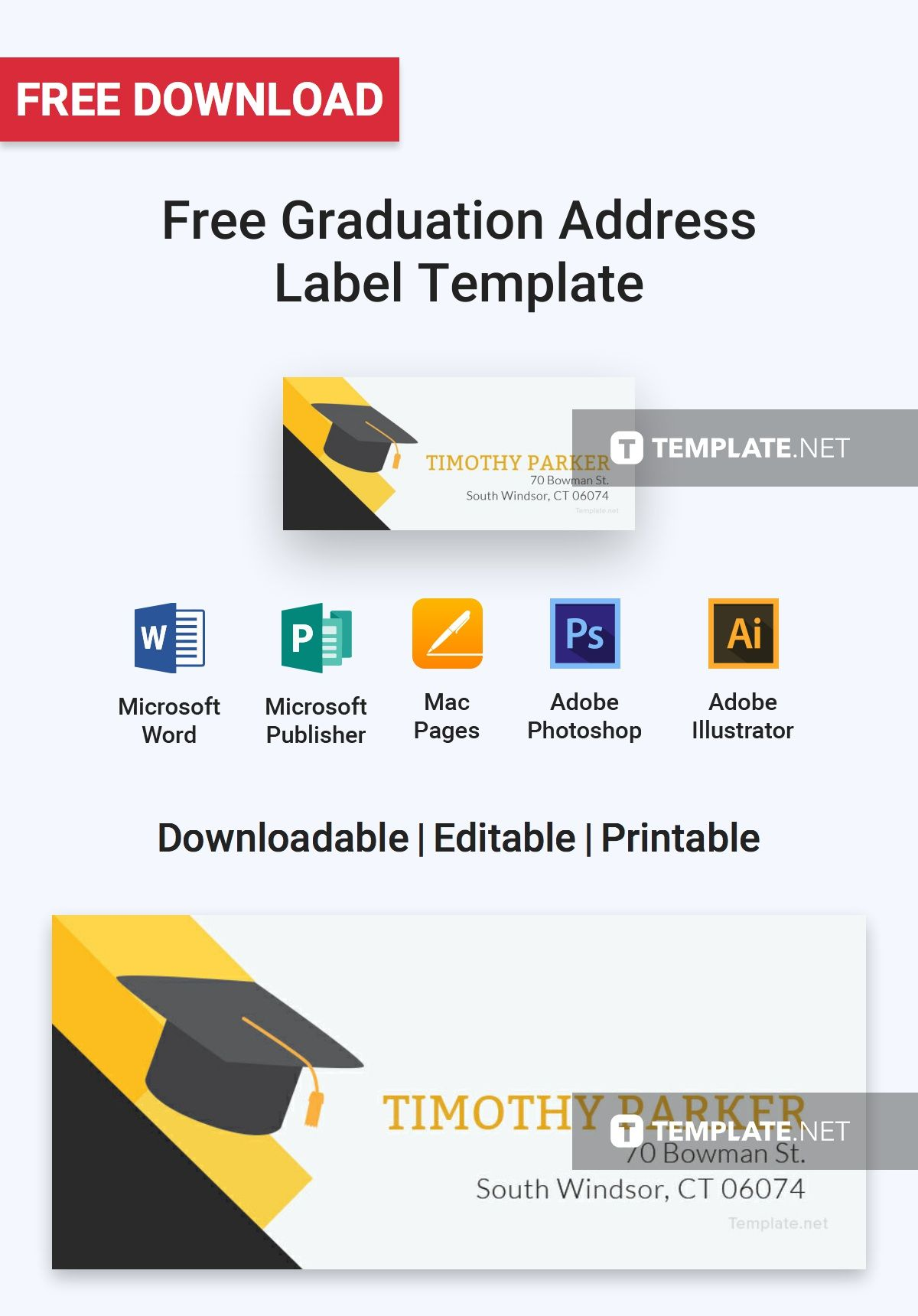 Free Download Label Templates Microsoft Word Free Graduation Address Label  Address Label Template Label .