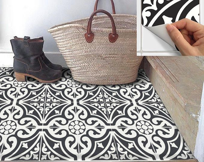 Badezimmer aufkleber ~ Boden fliesenaufkleber für küche bad wasserdicht & abnehmbare