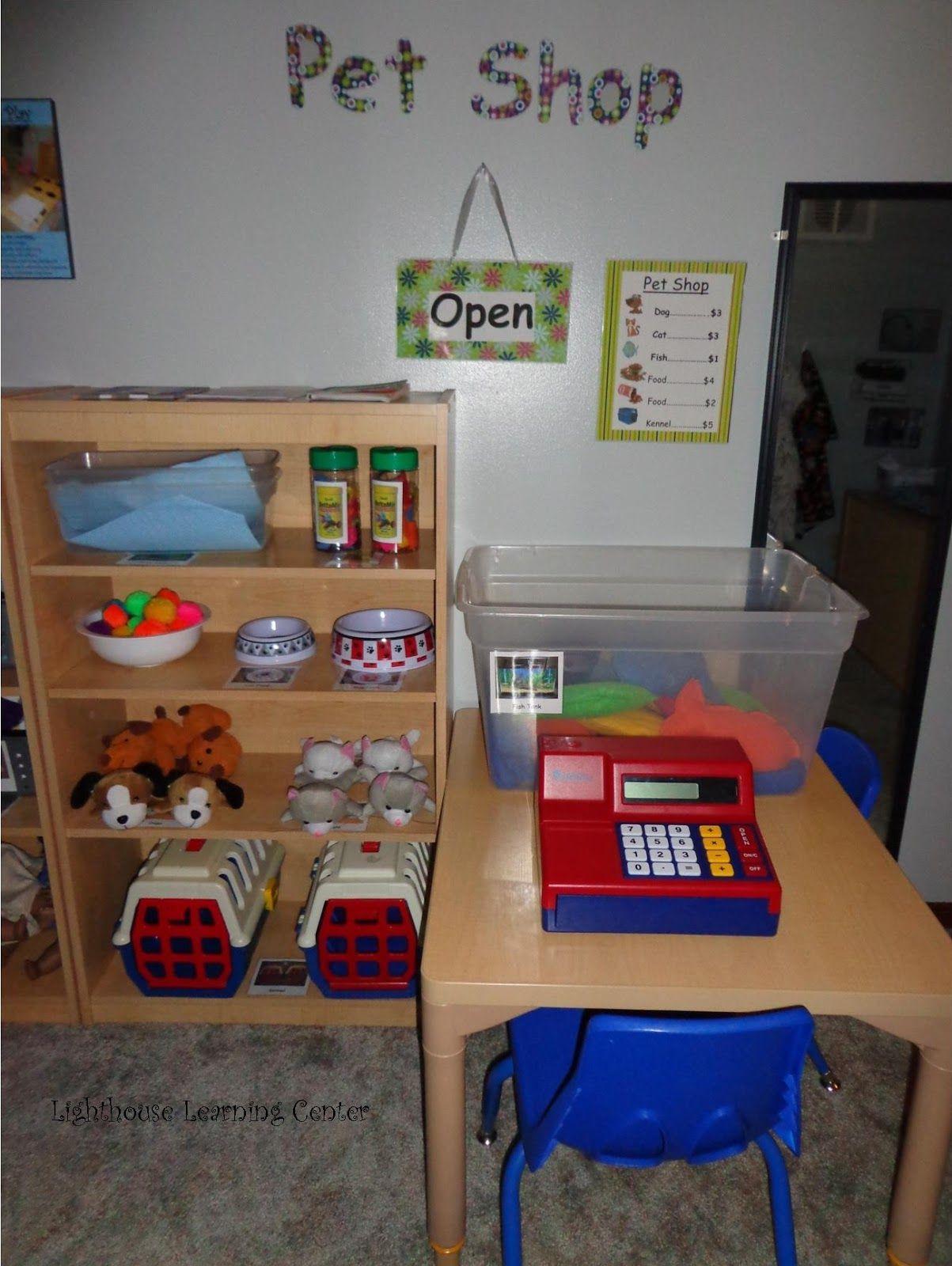 Pet Shop Dramatic Play Lighthouse Learning Center Our Pet Shop Prek Theme