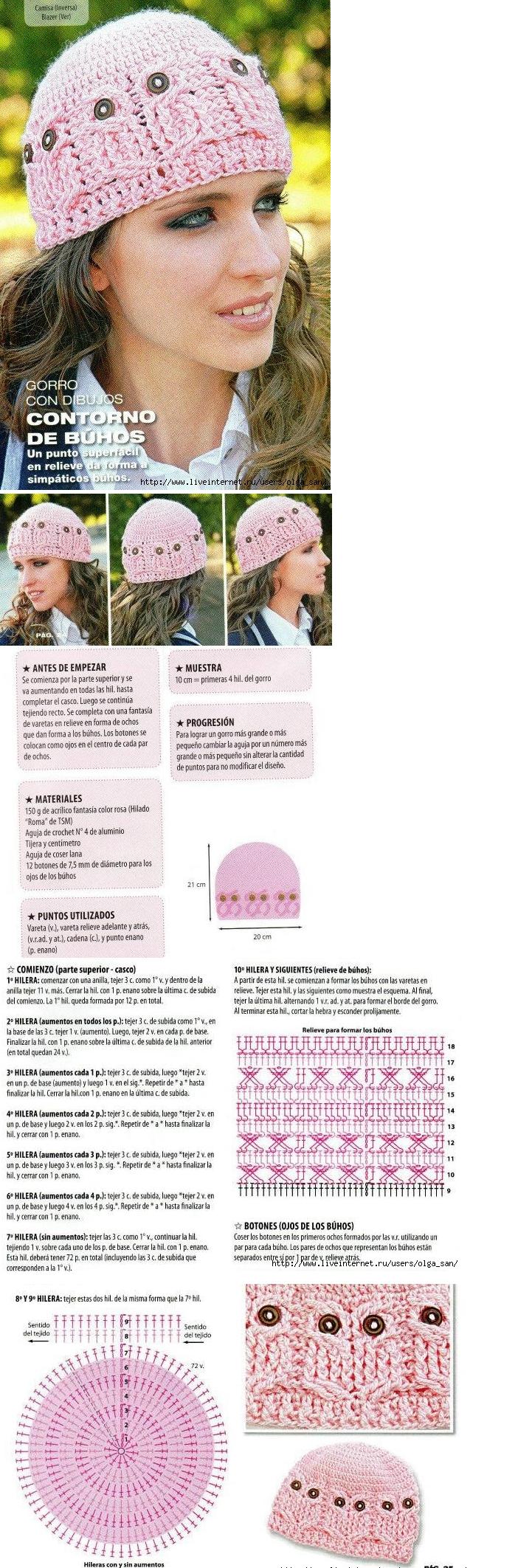 Gorro de mussols | Patrones Crochet | Pinterest | Gorros, Tejido y ...