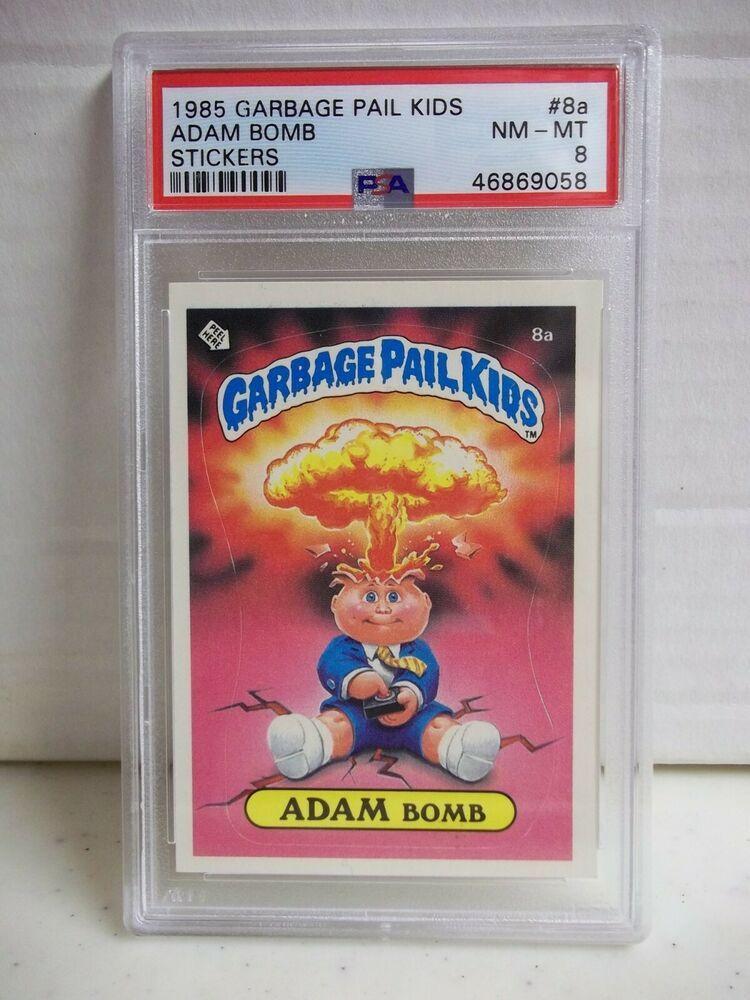 1985 Garbage Pail Kids Adam Bomb Psa Nm Mt 8 Stickers 8a Cheaters License Ebay In 2020 Garbage Pail Kids Garbage Pail Kids Cards Kids Cereal