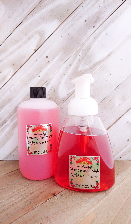 Apples cinnamon foaming hand wash vegan skin care by