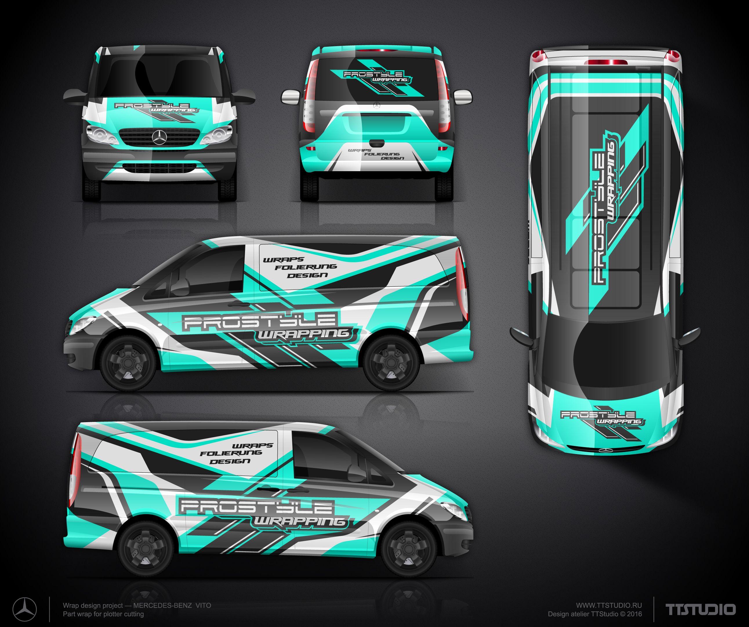 Mercedes prostyle wrapping jpg 2583x2161 van signage van design logo design