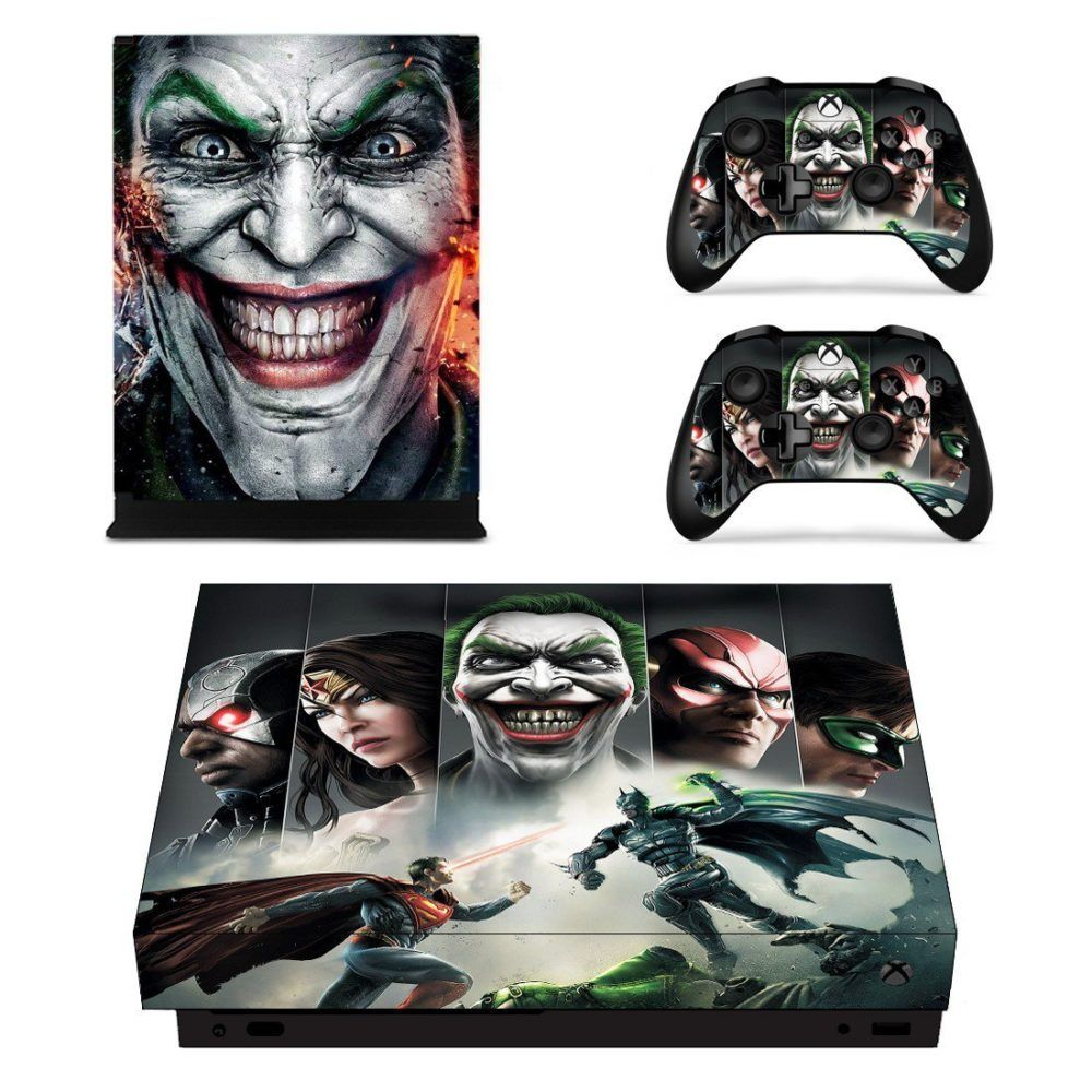 Injustice Gods Among Us Skin Sticker Decal For Xbox One X Controllers Consoleskins Co Xbox One Xbox One Skin Xbox