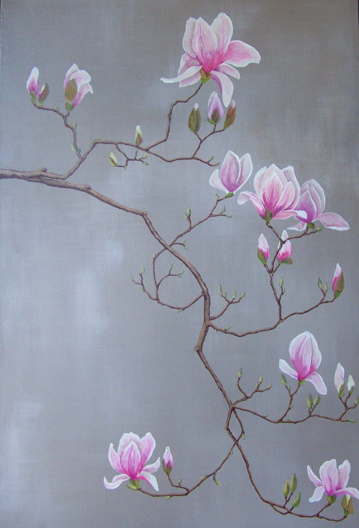 Magnolia Acrylic On Canvas By Rob Cosby Acrylic Painting Flowers Flower Art Flower Painting