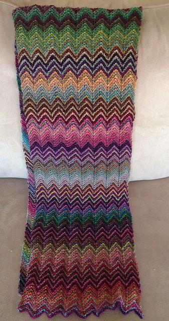 zick zack scarf, lang yarns mille colori baby | Sammler | Pinterest ...