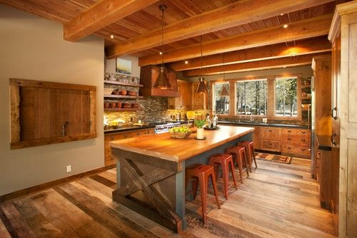 Rustic Kitchen Island  Won t be RustedPerfect Rustic Grey Brown