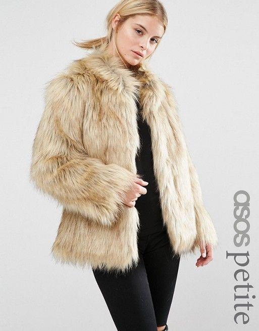 ASOS Petite | ASOS PETITE Jacket in Vintage Faux Fur | FUR - PELES ...