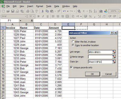 Como construir una lista de valores únicos en Excel Excel Pinterest