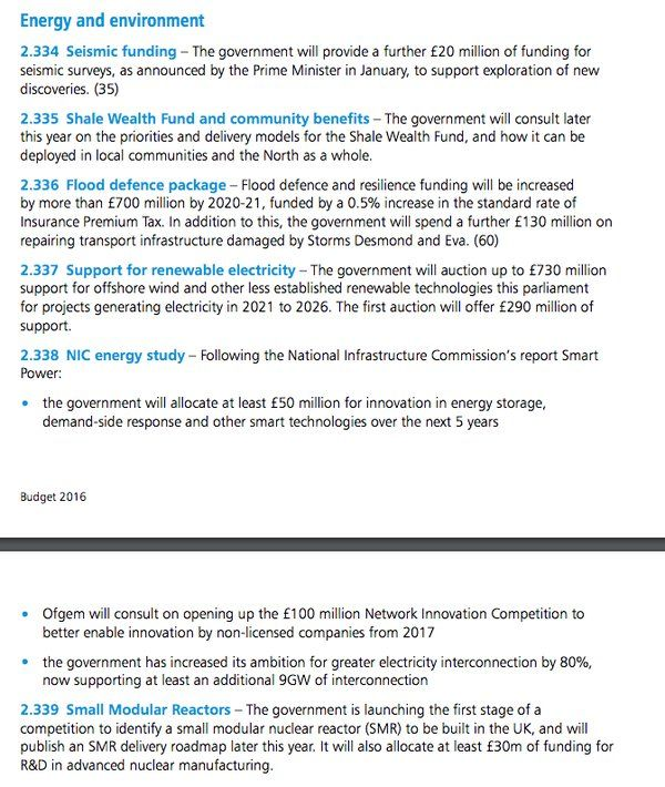 Here are the key energy announcements within the #Budget2016 https://www.gov.uk/government/uploads/system/uploads/attachment_data/file/508193/HMT_Budget_2016_Web_Accessible.pdf …