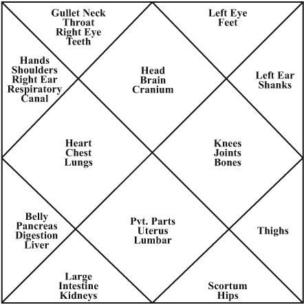 zodiac body parts ruled - Google Search | astrology | Vedic