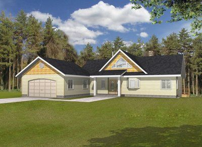L Shaped Ranch House With Hip Roof Ranch House Plan Alp