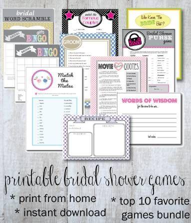 Top 10 Printable Bridal Shower Games Bundle