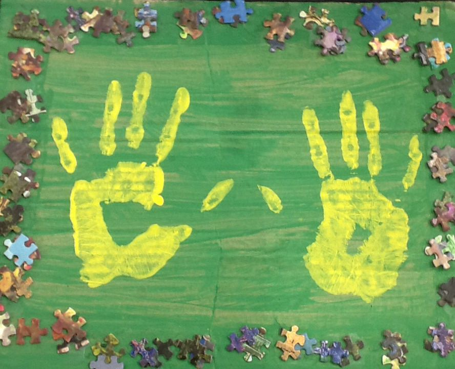 The boute-en-train campers will have a keepsake of their handprints!
