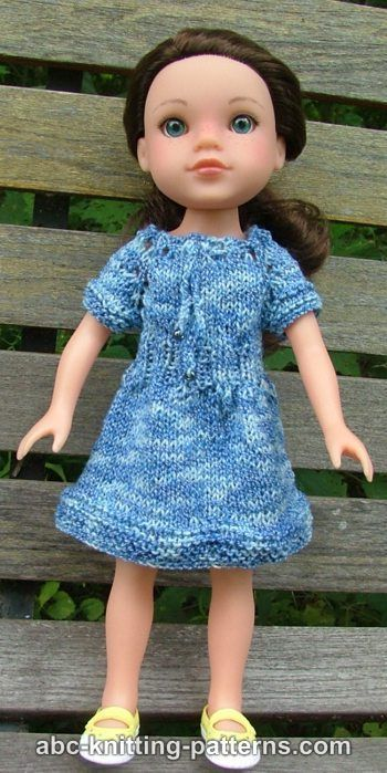 ABC Knitting Patterns - Dell\'s Drawstring Raglan Summer Dress #diy ...