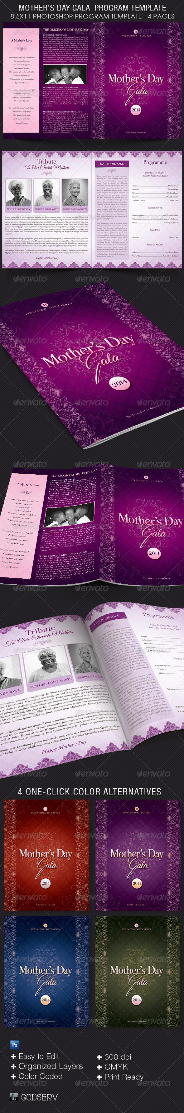 mother day program template