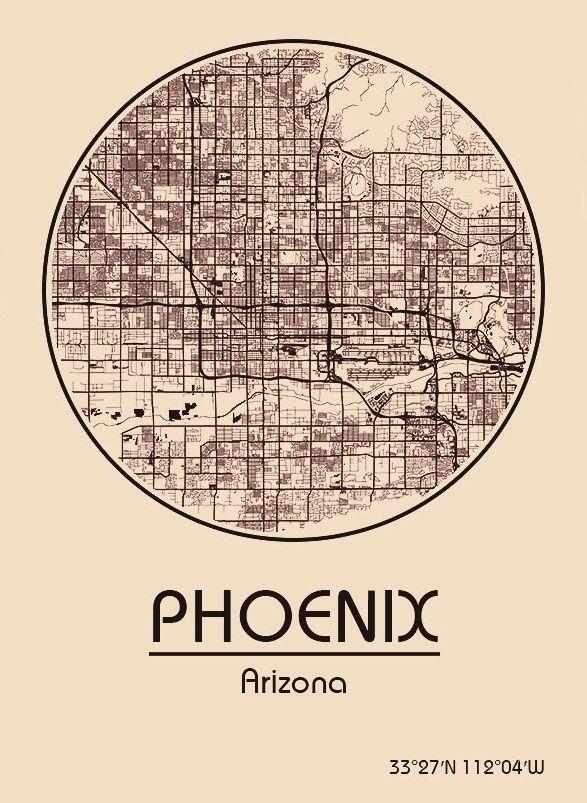 Amerika Karte Staaten.Karte Map Phoenix Arizona Vereinigte Staaten Von
