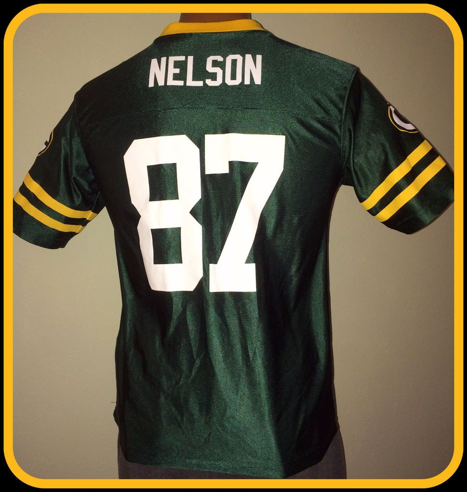 GREEN BAY PACKERS JORDY NELSON TEAM APPAREL REPLICA JERSEY YOUTH XLARGE  14-16  Reebok 4a227ae14