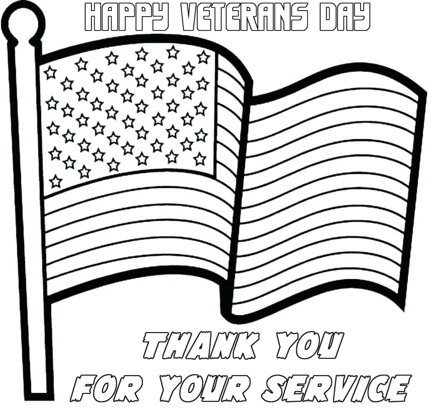 Veterans Day U S Flag Coloring Pages Free And Printable Us