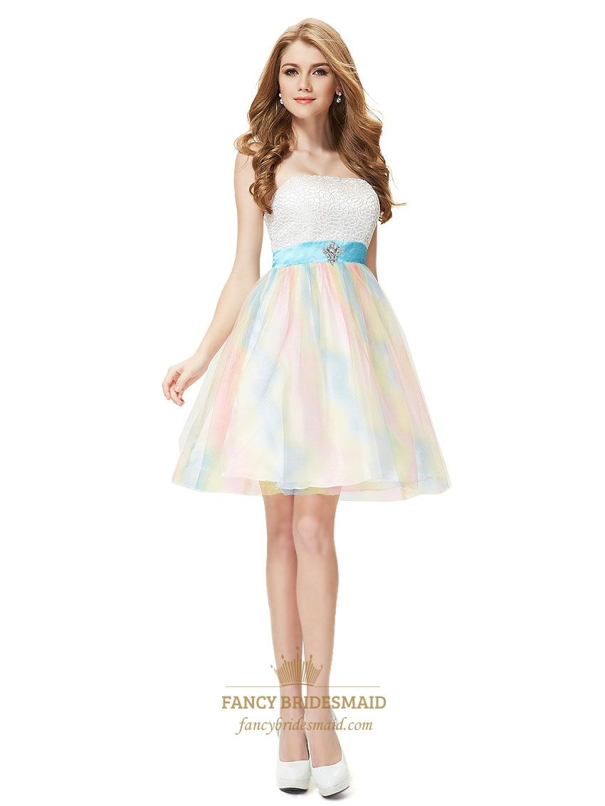 Short White Sparkly Cocktail Dresses,Colourful Cocktail Dress For ...