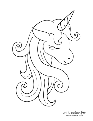 100 Magical Unicorn Coloring Pages The Ultimate Free Printable Collection At Print Color Fun Co Unicorn Coloring Pages Unicorn Pictures Unicorn Printables