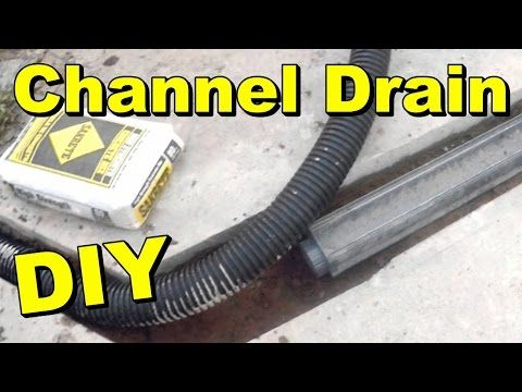 How To Install A Channel Drain Youtube Driveway Installation Drain