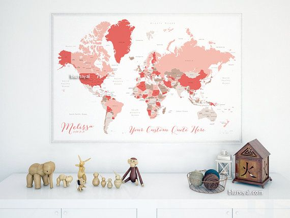 Custom quote printable world map with country names us states custom quote printable world map with country names us states names canada provinces gumiabroncs Images